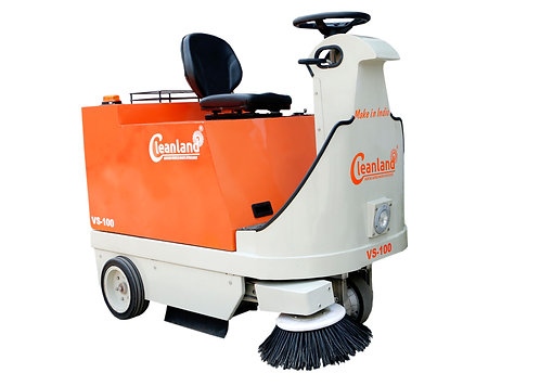 Cleanland VS-100 Battery Operated Road Sweeping Machine
