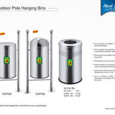 Stainless Steel Mounted Outdoor Dustbins