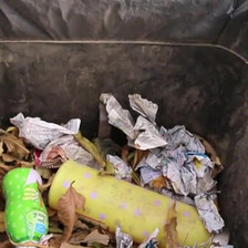 Pedestrian 120 BILSET Vacuum Garbage Collector