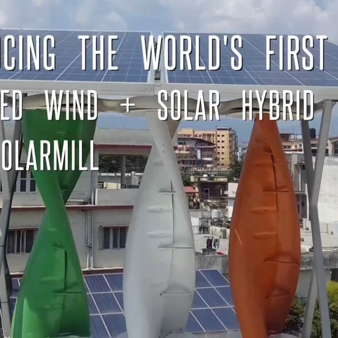 The world's first integrated wind + solar hybrid - The Solarmill