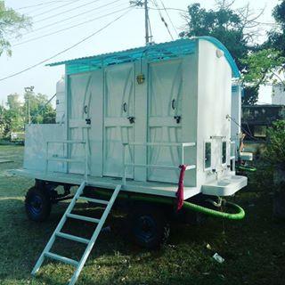 Two 6 Cabin Solar Mobile Bio-Toilet Vans, NPP Shivalik Nagar,     6 Seater Mobile Biotoilet for Nagar Panchayat Bhaganpur, Uttarakhand