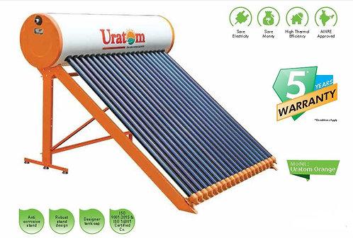 Uratom Solar Water Heater - Orange VTS Model