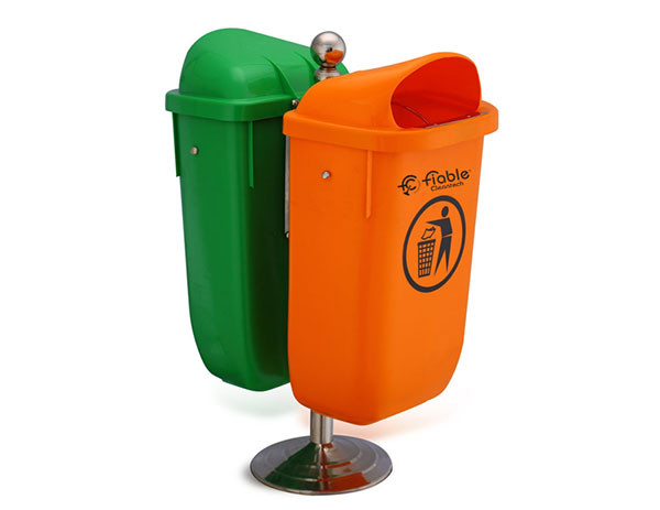 Smart Series Dustbins - Twin with Stand