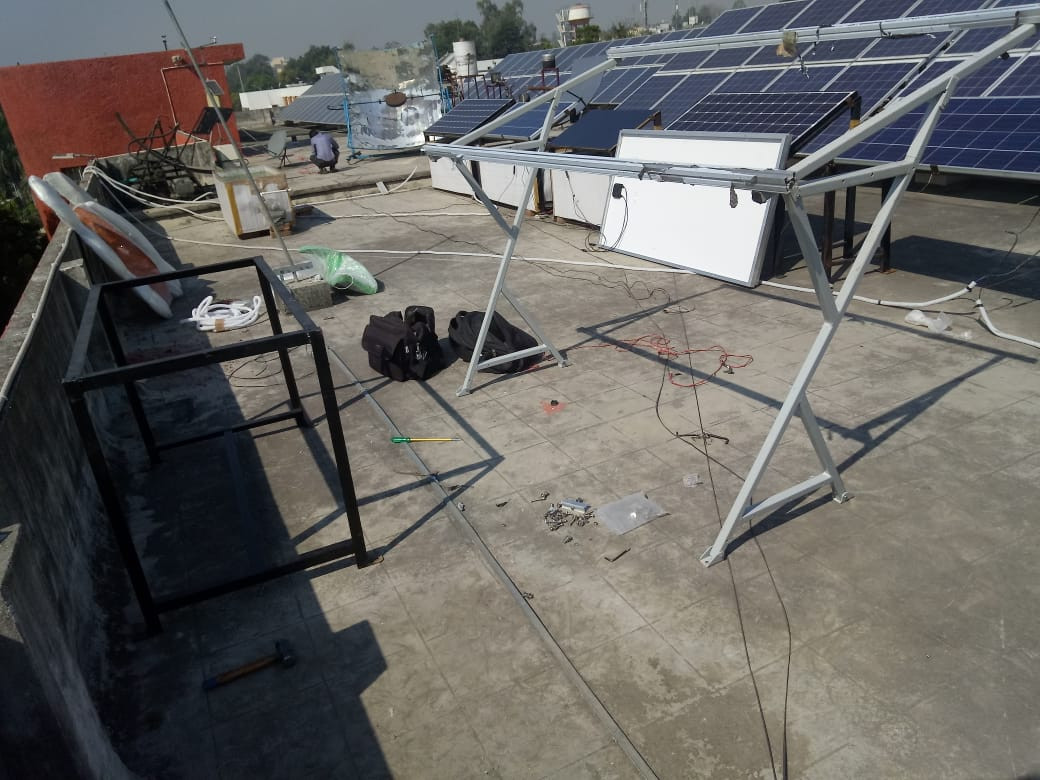 1kW SolarMill being installed at IIT Roorkee