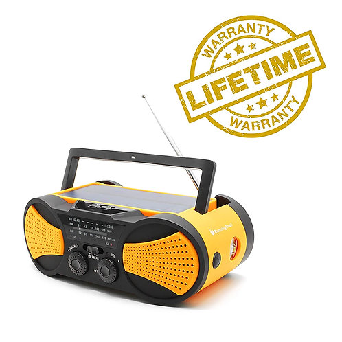 Emergency Weather Crank Solar Radio with SOS Alarm for Hurricanes & Tornadoes