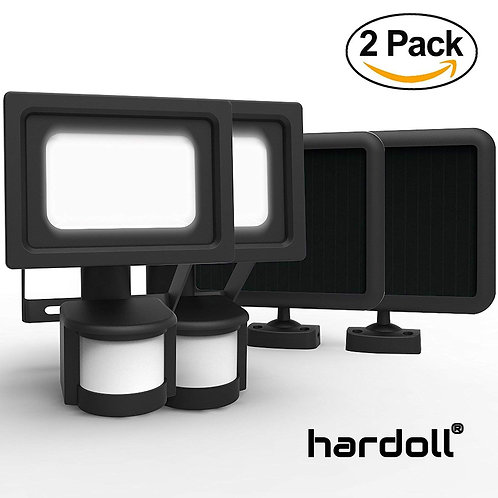 Hardoll Solar Outdoor Security Lantern - Pack of 2