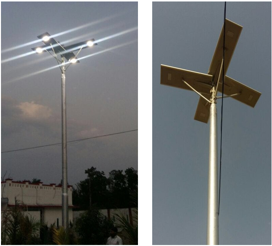 Monocrystalline Integrated Solar Street Light with Aluminium Casing