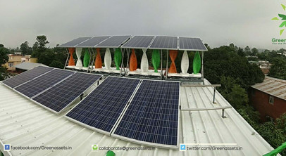 5kW Wind Solar Hybrid at the Greenassets.in HQ, Dehradun