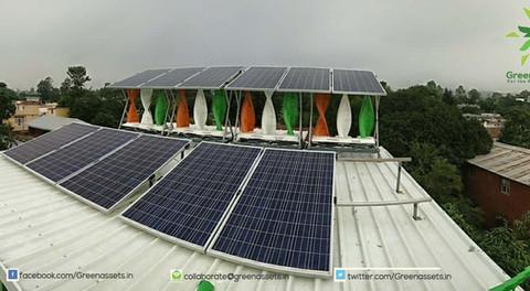 5kW Wind Solar Hybrid at the Greenassets.in HQ, Dehradun