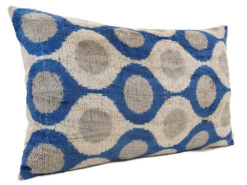 Oslo Gray Classic - IKAT Silk/Velvet Pillow