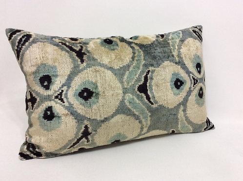 Sirocco - IKAT Silk/Velvet Pillow