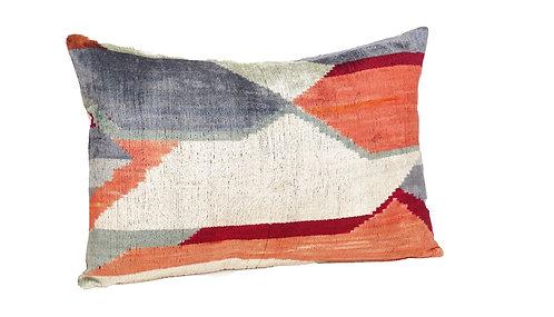 Modern Mirage - IKAT Silk/Velvet Pillow