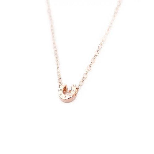Horseshoe Necklace - Rose Gold