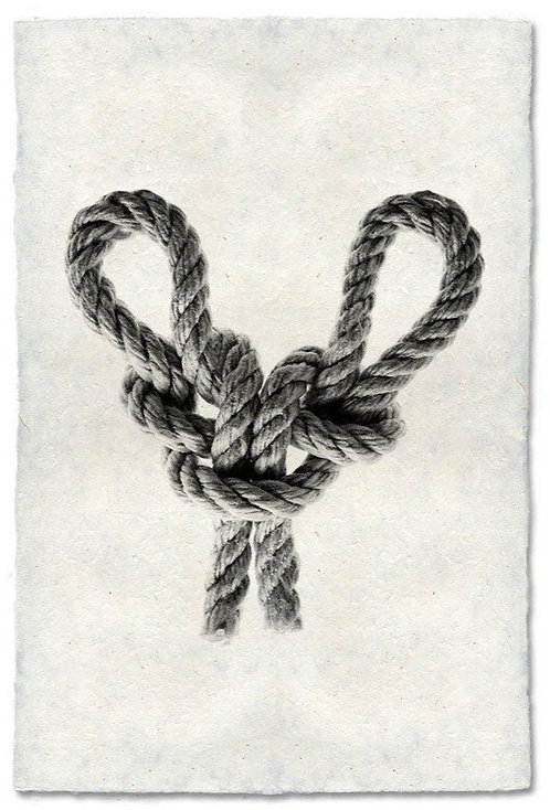 SPANISH BOWLINE KNOT STUDY ON NEPALESE PAPER