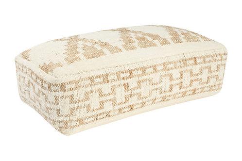 Handwoven Cotton & Wool Blend Kilim Pouf