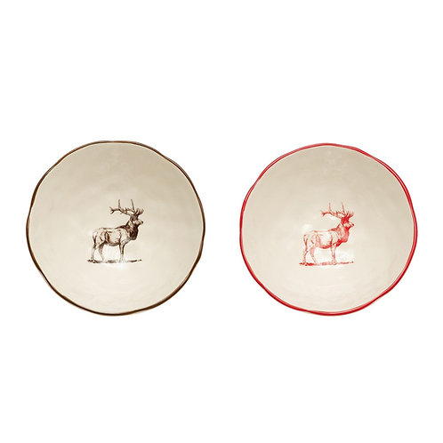 copy of Stoneware Elk Bowl - Brown