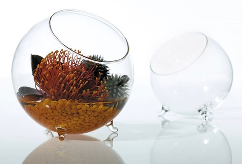 Glass Bowl with Feet