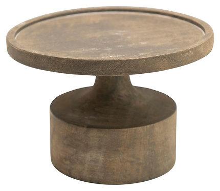 """Mango Wood Candleholder with Blackwash Finish (Holds 6"""" Pillar Candle)"""