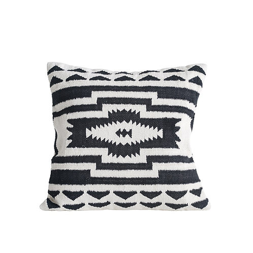 Kilim Pillow, Black & Natural