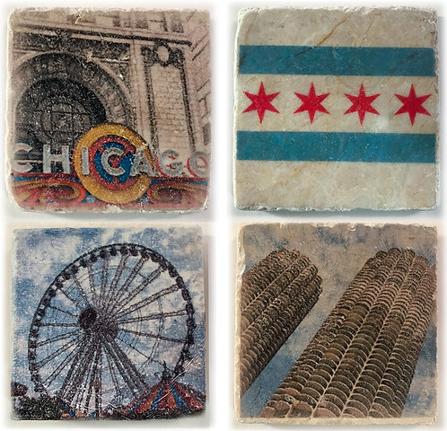 Chicago Coaster Set 1