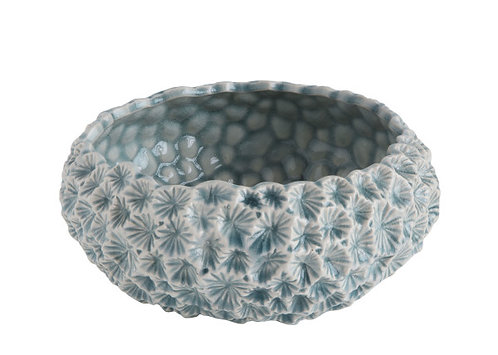 Light Blue Textured Ceramic Planter - Small