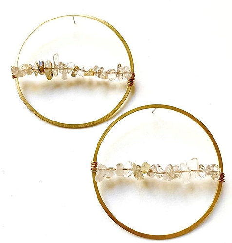 Quartz Bead Earrings