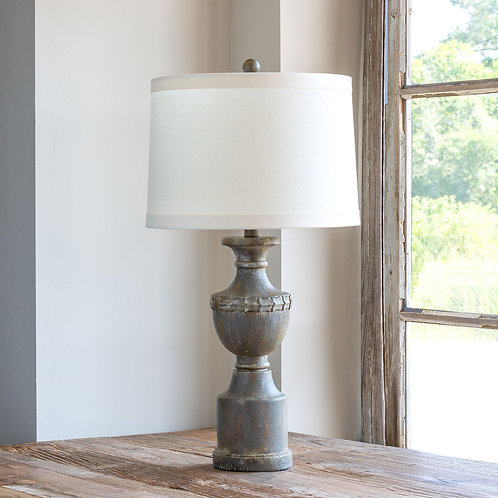 Weathered Finial Lamp