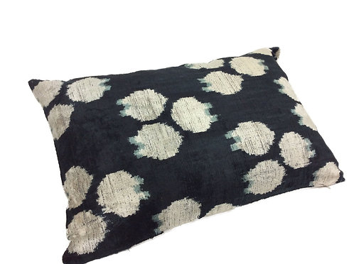 Black Rock - IKAT Silk/Velvet Pillow