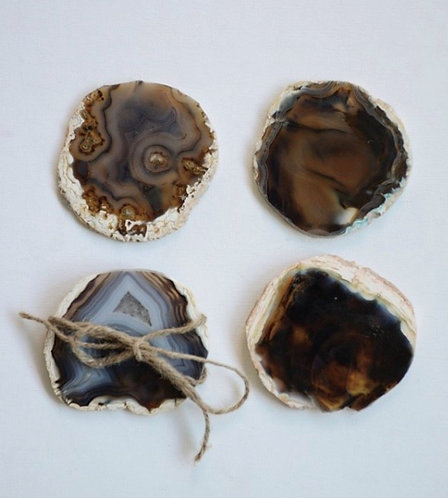 Agate Coasters (Set of 4)