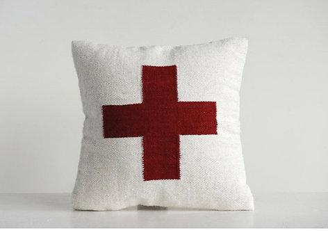Red Cross Wool Pillow