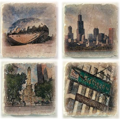 Chicago Coaster Set 2
