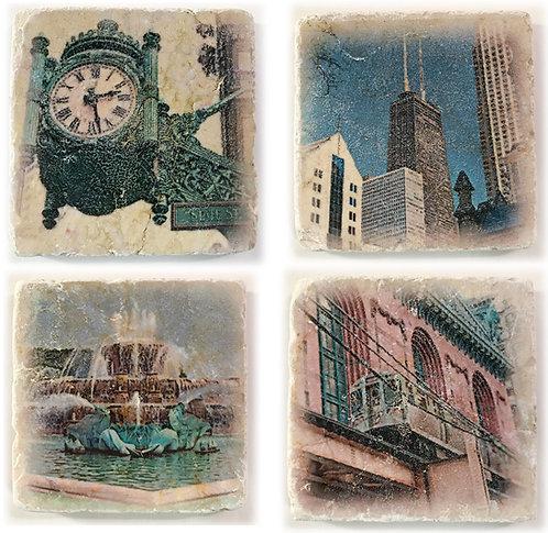 Chicago Coaster Set 3