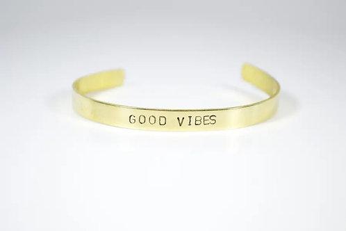Brass Good Vibes Cuff