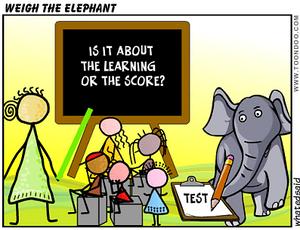 elephant assessment cartoon
