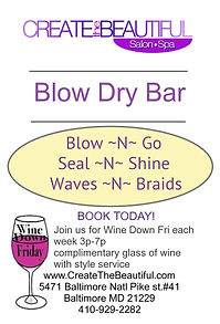 blow dry bar braids wand curls blow out baltimore