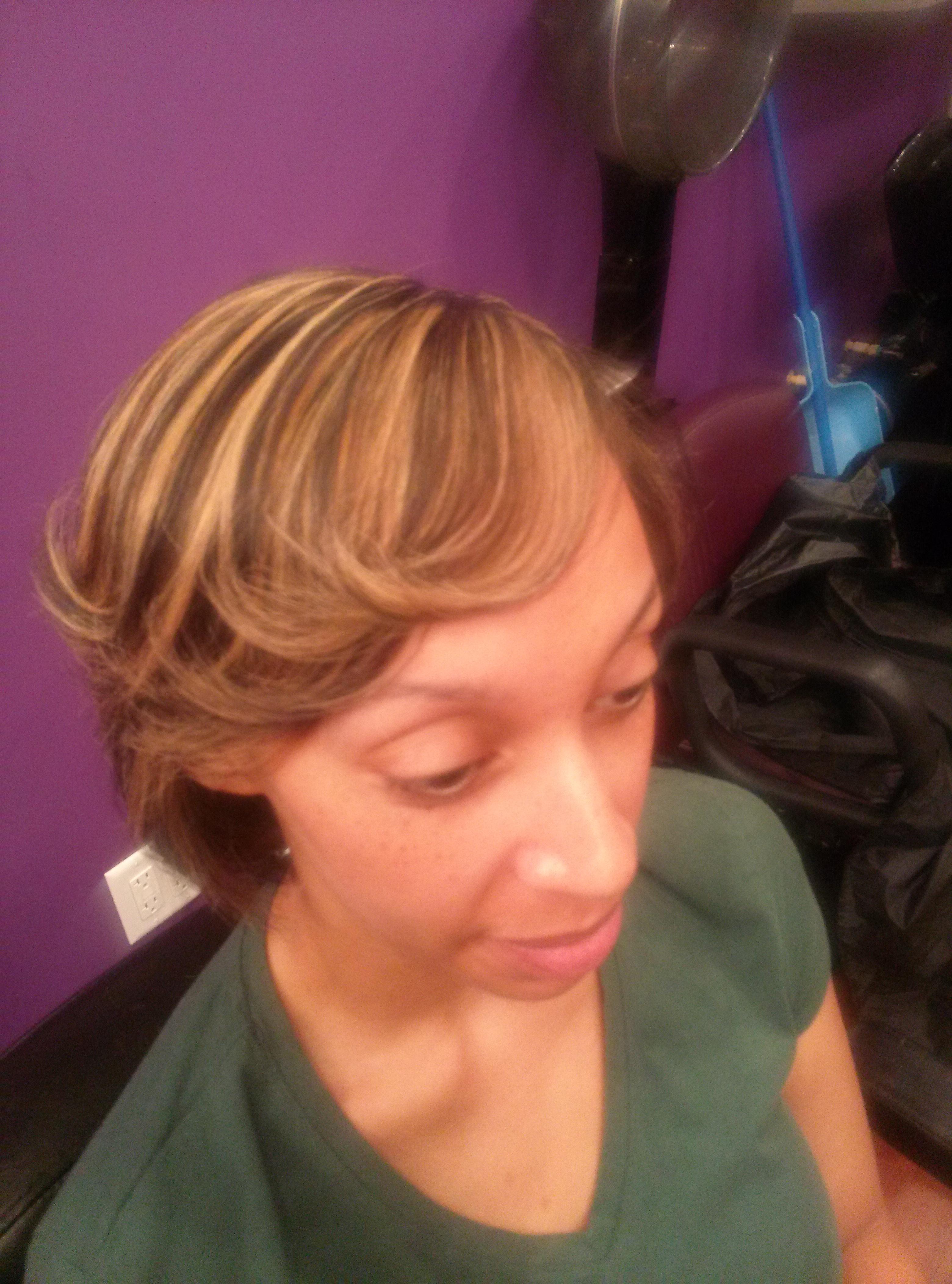 highlights silk press natural hair