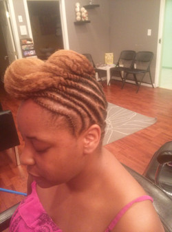 natural hair Pompadour two strand