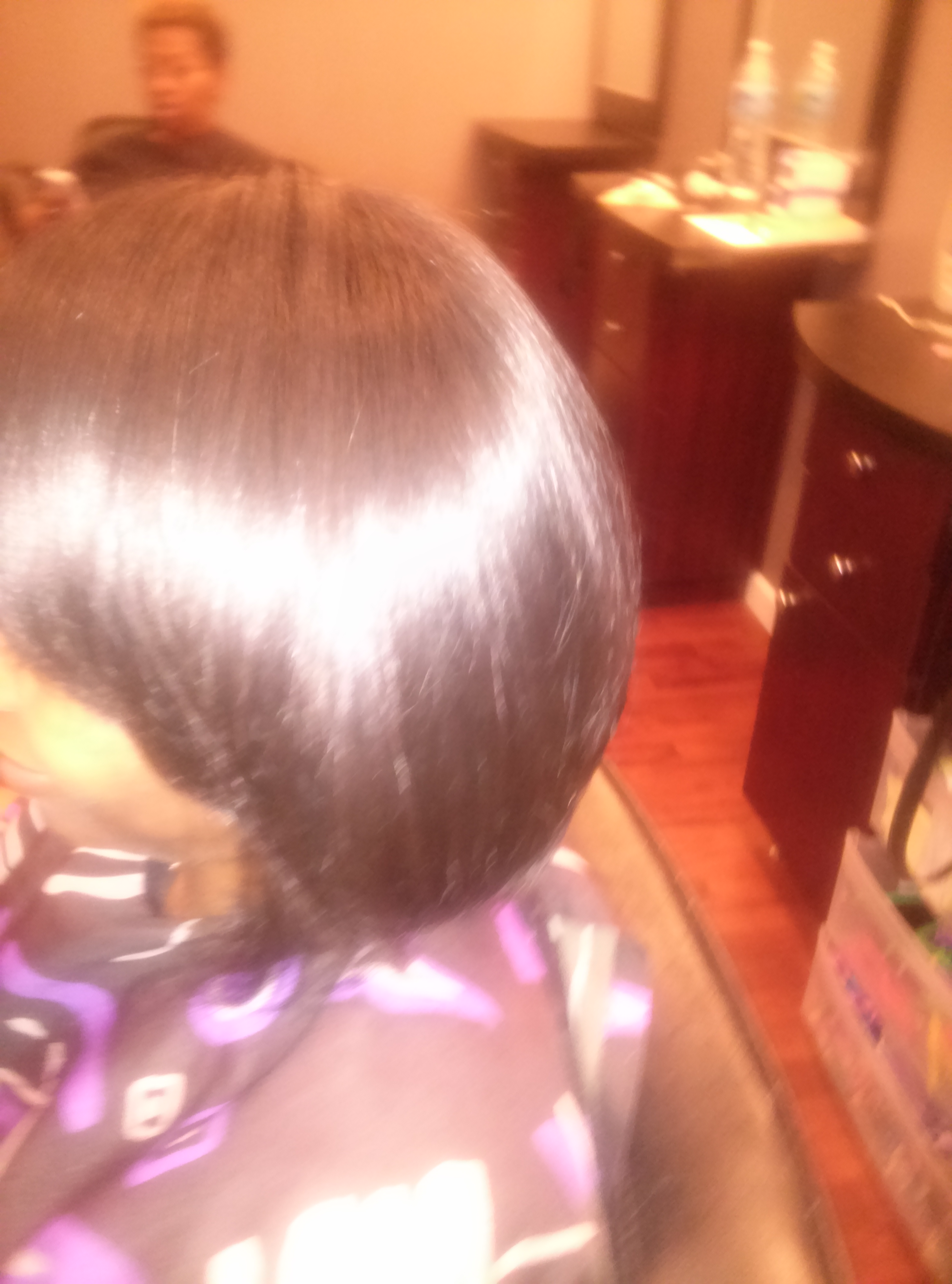 blowout on natural hair