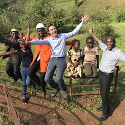 Hydrobox Team visiting the village of Gitugu, Kenya