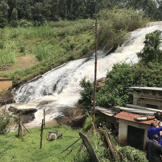 Magiro power plant harnessing energy through the falls