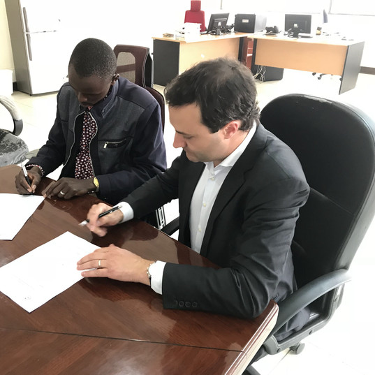 Signing of the partnership agreement, May 2018