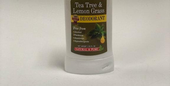 Organic Tea Tree & Lemongrass Deodorant