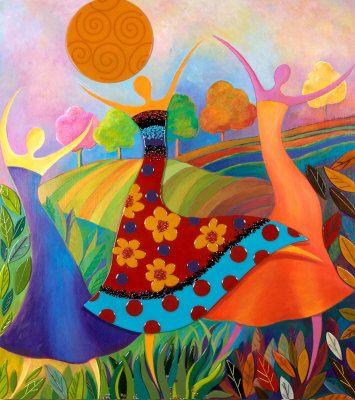 ציור של 3 נשים רוקדות