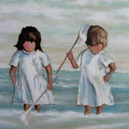 Two Girls by Sea