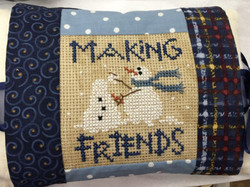 Tie on Pillow ~ Making Friends