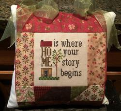 Top Tie Pillow ~ Home