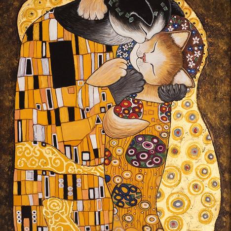 Gustov Klimpt's Kissing Cats
