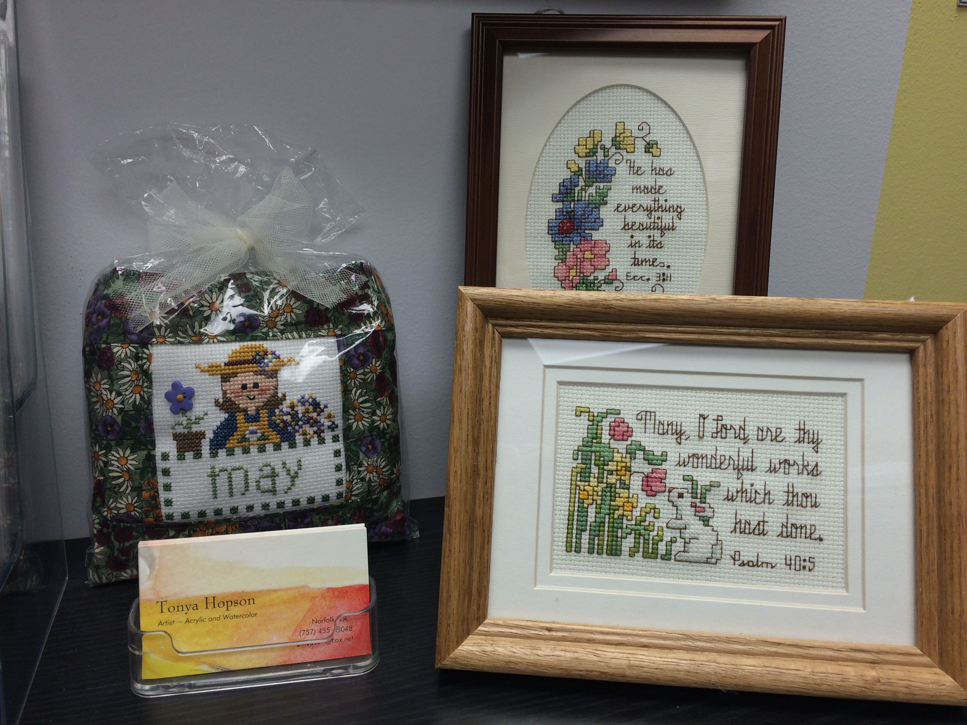 May Framed Cross Stitch