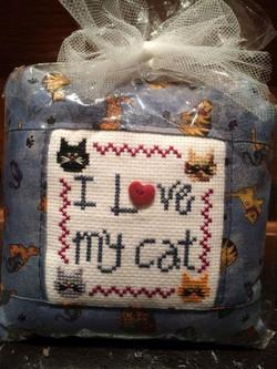 Pillow ~ I  love my Cat