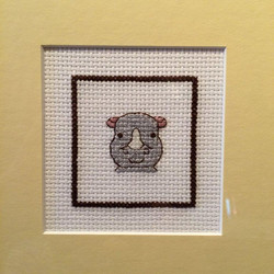 Square Framed ~ Baby Rhino